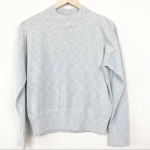 Madewell Relaxed Mockneck Sweater Heather Celeste